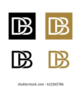 D B Letter Logo Template Illustration Design. Vector EPS 10.