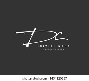 D C DC Beauty vector initial logo, handwriting logo of initial signature, wedding, fashion, jewerly, boutique, floral and botanical with creative template for any company or business.