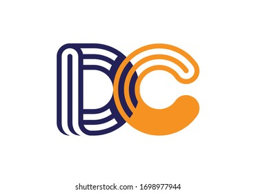 D C Initial Letter Logo design vector template, Graphic Alphabet Symbol for Corporate Business Identity