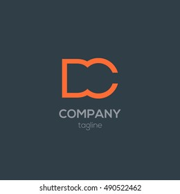 D & C Letter logo alphabet design