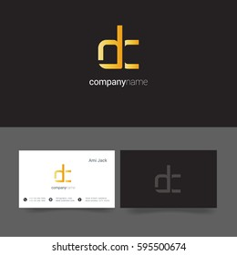 D & C Letter logo, with Business card Template