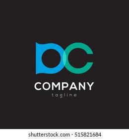 D & C Letter logo design vector element