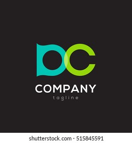 D & C Letter logo design element