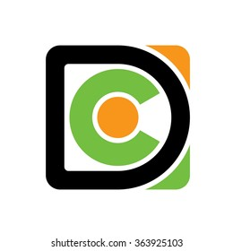 d and c logo vector.