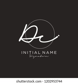 D C Signature initial logo template vector