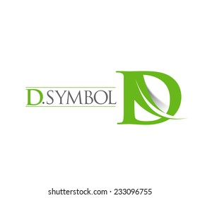 D company vector logo and symbol Design