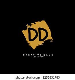 D D DD Initial logo template vector. Letter logo concept
