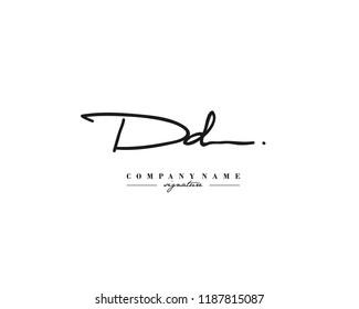 D D DD Signature initial logo template vector