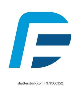 d and f logo vector.