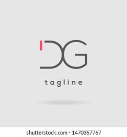 D & G double letter logo design vector template