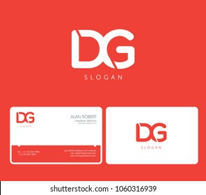D & G joint logo bold letters design with business card template