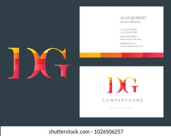D & G joint logo multi color letters with business card template