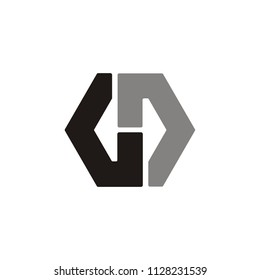D D or G D letter hexagon modern creative vector logo