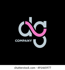 D & G Letter logo design vector