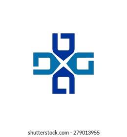D, G, logo template for health icon vector
