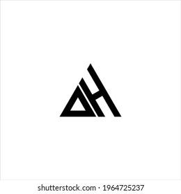 D H letter logo creative design. DH icon
