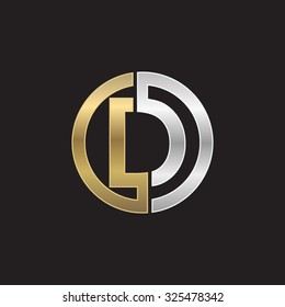 D initial circle company or DO OD logo black background