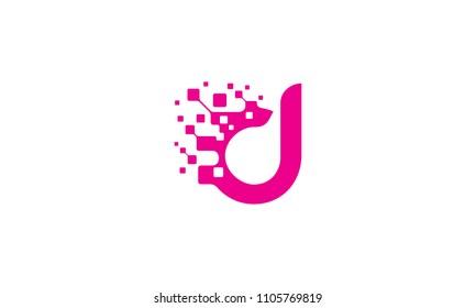 d initial digital logo