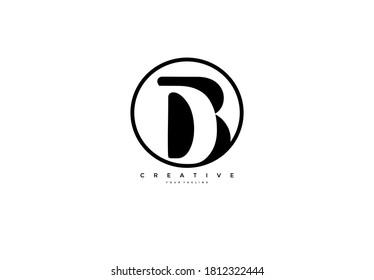 D inside B Logo simple initial circle shape design