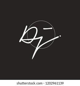 D J Signature initial logo template vector