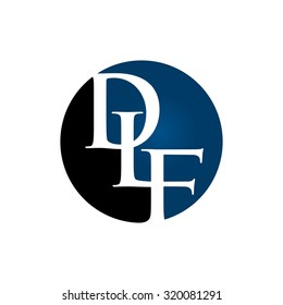d, l, and f logo