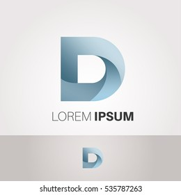 D Letter Abstract Vector Logo Design Template. Creative Typographic Concept Icon