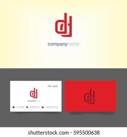 D y letter logo business card stock vector royalty free 596275937 d d letter logo with business card template colourmoves