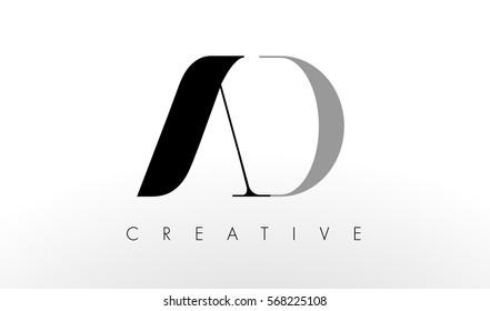 A D Letter Logo Design. Creative Modern AD Letters Icon Illustration.