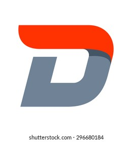 D letter logo design template. Fast speed vector unusual letter. Vector design template elements for your application or company.