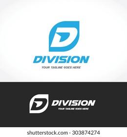 D letter, Sport Vector Logo Template
