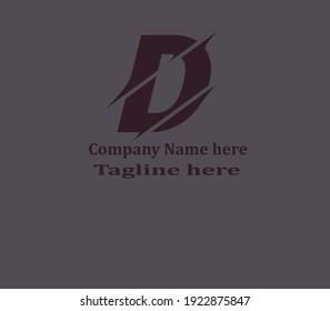 D letter Stylish Logo Design Vector Art