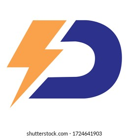 D logo design for technology companies and power companies