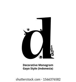 batik aceh images stock photos vectors shutterstock https www shutterstock com image vector d lowercase monogram decoratives gayo style 1566376582
