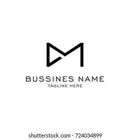 D M logo , D M initials , D M logo template