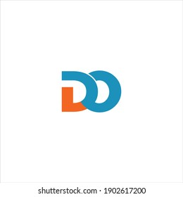 D O letter logo vector design on white color background. do icon