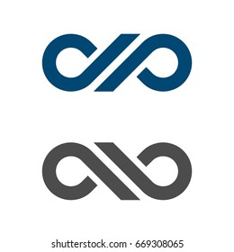D P Letter Infinity Logo Template Illustration Design. Vector EPS 10.