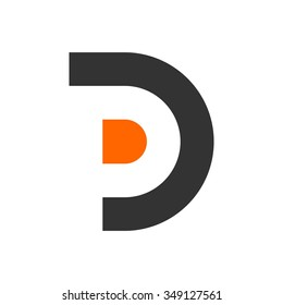 d and p logo vector.