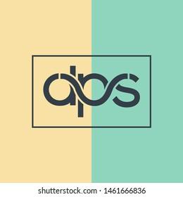 D P S joint letters logo design vector