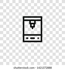 d printer icon from mass producction collection for mobile concept and web apps icon. Transparent outline, thin line d printer icon for website design and mobile, app development
