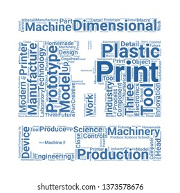 d printer word cloud. tag cloud about d printer