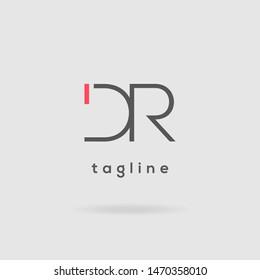 D & R double letter logo design vector template