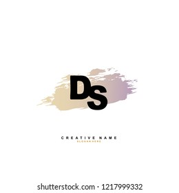 D S DS Initial logo template vector