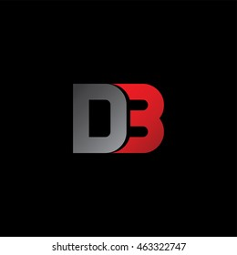 d3 uppercase initial letter logotype - company logo template
