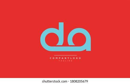 DA abstract initials monogram letter text alphabet logo design