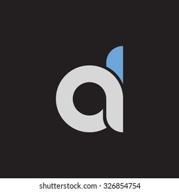 da, ad initial overlapping rounded letter logo