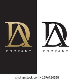 DA or AD logo luxury premium design icon
