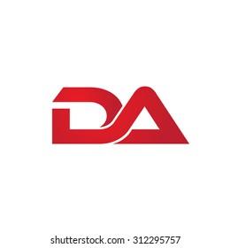 DA company linked letter logo
