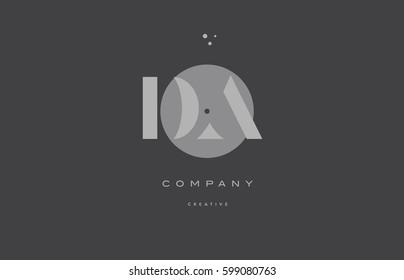 da d a  grey modern stylish alphabet dot dots eps company letter logo design vector icon template