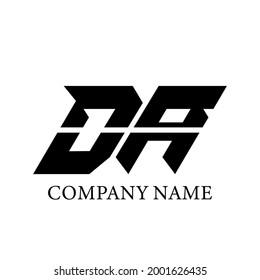 DA, D A Logo Template Design. DA logo icon vector.