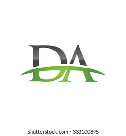 DA initial company green swoosh logo